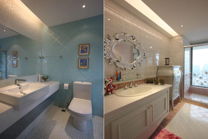 别墅样板房儿童房卫生间,充满童趣的卫生间让你的孩子时刻与童话相伴!